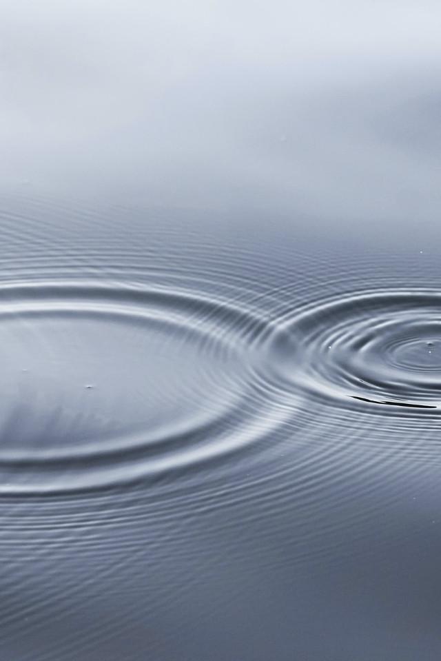 Kreise im Wasser